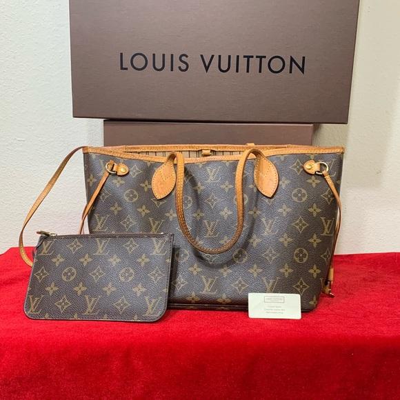 Louis Vuitton Handbags - Louis Vuitton Neverfull PM Tote Bag WITH POUCH